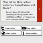 Modefragen iPhone App