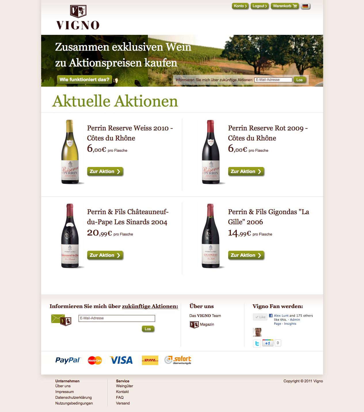 Vigno Homepage